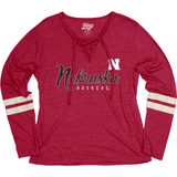 Women's Nebraska Huskers Lace Up Top-Red