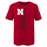 Kids Nebraska Football Jump Speed Cotton Tee-Red