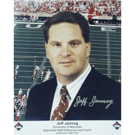 Nebraska Autographed Jeff Jamrog 8 x 10 inch Photo