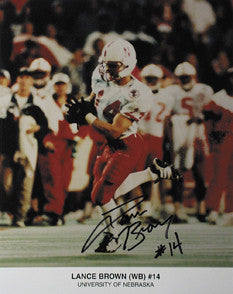 Lance Brown Autographed 8 x 10 inch Photo