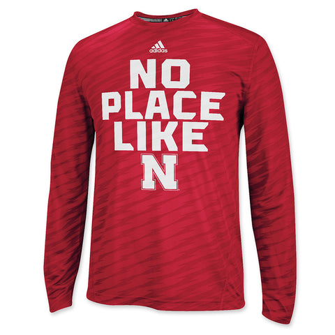 No Place Like Nebraska Training Crew - LS - Red