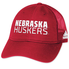 Shop Huskers Football Travel Trucker Style Hat by Adidas
