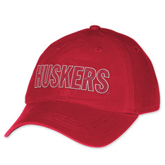 Vintage Nebraska Huskers Felt Adjustable Hat by Adidas