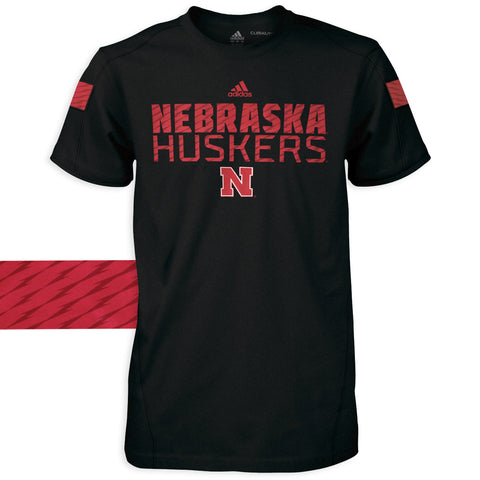 Nebraska Football Sideline Crew by Adidas - SS - Black