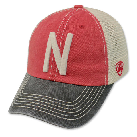 Vintage Nebraska Huskers Faded Trucker Hat
