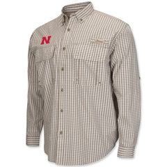 Mens Long Sleeve Oxford Nebraska Huskers Shirt