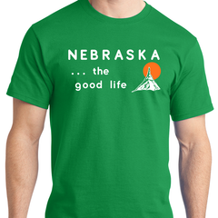 Welcome to Nebraska Green Sign T-Shirt
