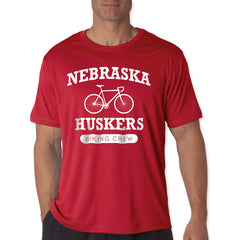 Nebraska Huskers Cycling Red SS Performance Tee