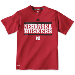 Youth Nebraska Huskers Performance Tee Shirt by Adidas