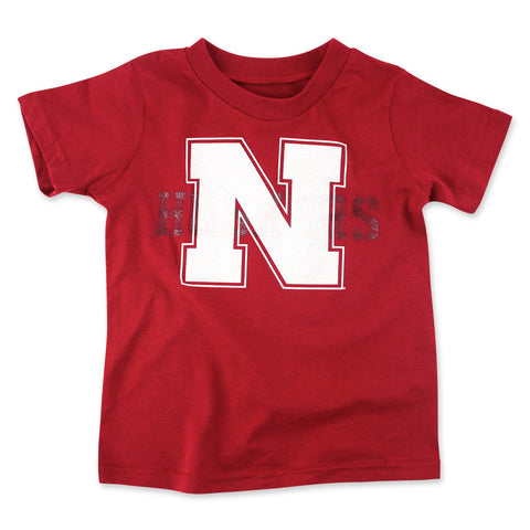 Nebraska Huskers Youth Boys Adidas T-Shirt