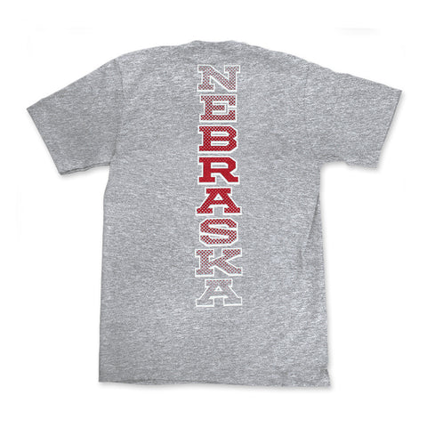 Youth Respect the Huskers Tee by Adidas - Grey - SS