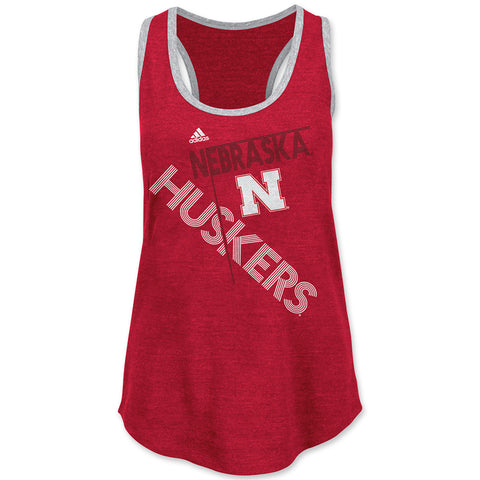 Youth Girls Nebraska Huskers Tri-Blend Tank Top