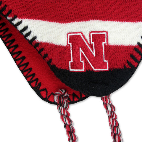 Nebraska Youth Knit w/ Pom- Adidas