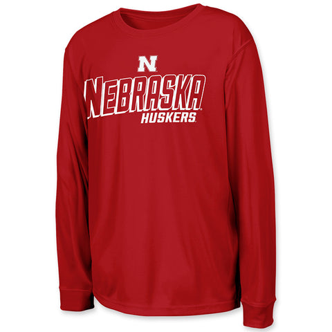 Nebraska Huskers Youth Boys Performance Long Sleeve Shirt