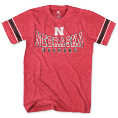 Youth Huskers Retro Sleeve Stripe Tee