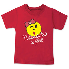 Nebraska Girl Tee - Red - SS