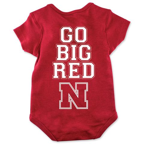 Go Big Red No Crying in Football Romper