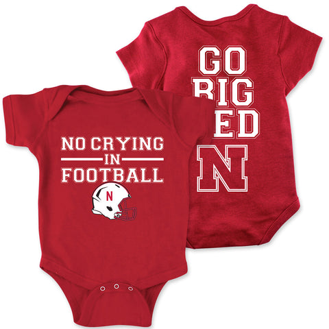 Nebraska Huskers No Crying In Football Romper