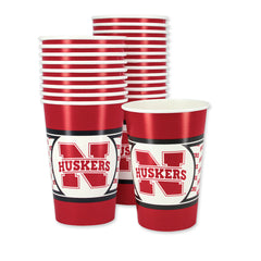 Nebraska Huskers Paper Cups Tailgate Supplies