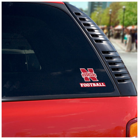 Nebraska Huskers Football Auto Decal