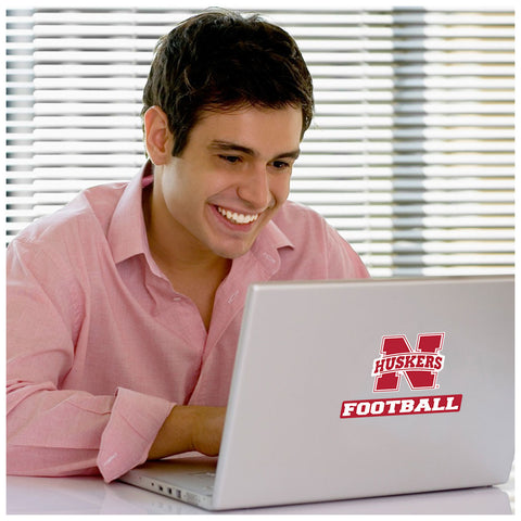 Nebraska Huskers Football Laptop Sticker
