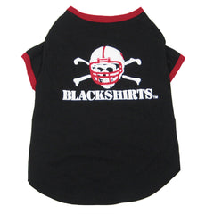 Nebraska Blackshirts Dog Tee Clothing
