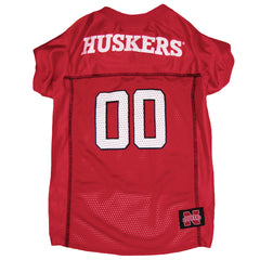 Dog Nebraska Huskers Red Jersey Tee