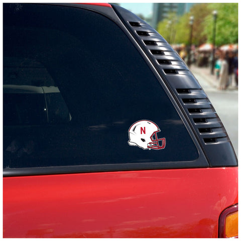 Nebraska Huskers Football Helmet Auto Decal