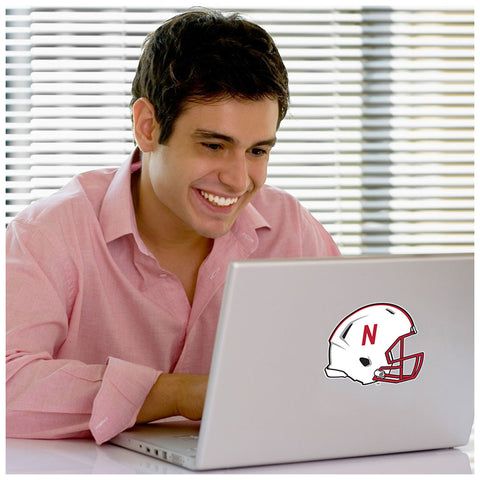 Nebraska Huskers Football Helmet Laptop Sticker