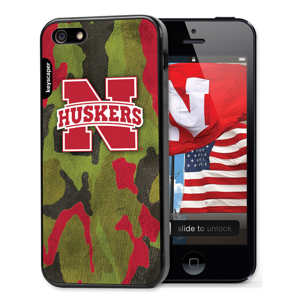 the best attitude a7b5d bc467 Nebraska Huskers Camo Cell Phone Case