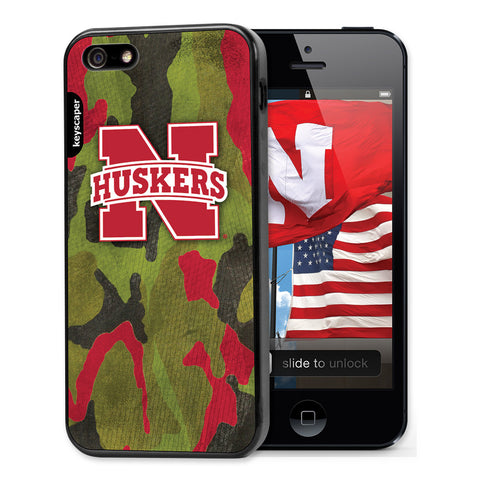 Nebraska Huskers Camo Cell Phone Case