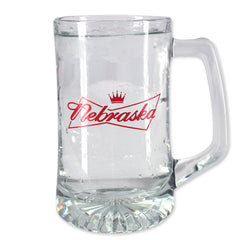 Nebraska, The King of Mugs Glass Mug