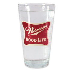 Nebraska The Good Life Pint Glass