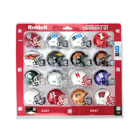Nebraska Huskers Collectibles Pocket Size Football Helmets
