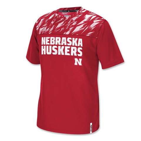 Official Nebraska Football Players Sideline Crew by Adidas - SS - Red