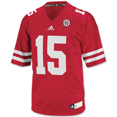 Red Nebraska Huskers #15 Football Jersey
