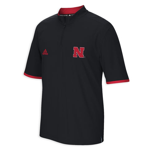 Nebraska Huskers Adidas Short Sleeve Quarter Zip