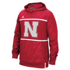 Nebraska Huskers Shockengery Player Hoody by Adidas - Red - LS