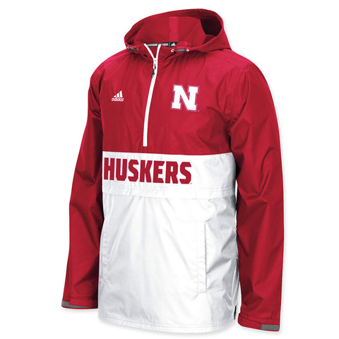 Nebraska Huskers Mens Shock Energy Rain Jacket by Adidas