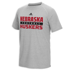 2015 Nebraska Sideline Performance Tee by Adidas - SS - Grey