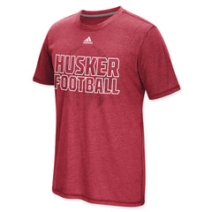 Huskers Football Performance Tee by Adidas
