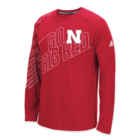 Go Big Red Nebraska Long Sleeve Performance Tee