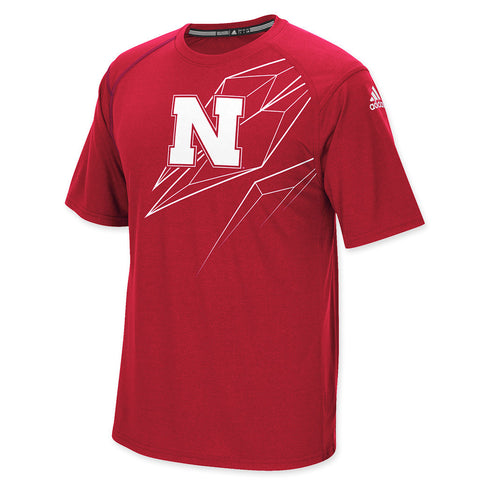 Nebraska Huskers 2015 Performance Tee by Adidas