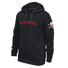 Nebraska Blackshirts Mens Zip Hoody by Adidas