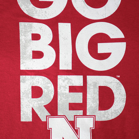 Nebraska Go Big Red Adidas Cotton T-Shirt