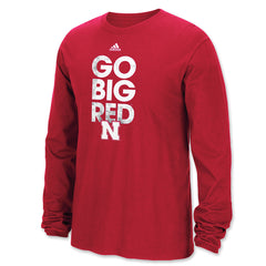 Go Big Red Nebraska Long Sleeve Tee by Adidas