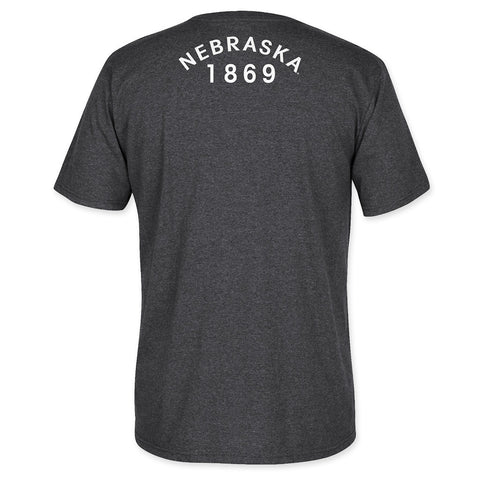University of Nebraska Huskers Grey Adidas Tee