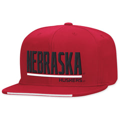 Nebraska Huskers Red Player Hat by AdidasNebraska Huskers Red Player Snapback Hat by Adidas