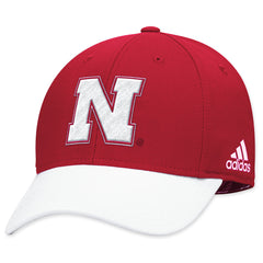 Nebraska Structured Red Flex Hat by Adidas