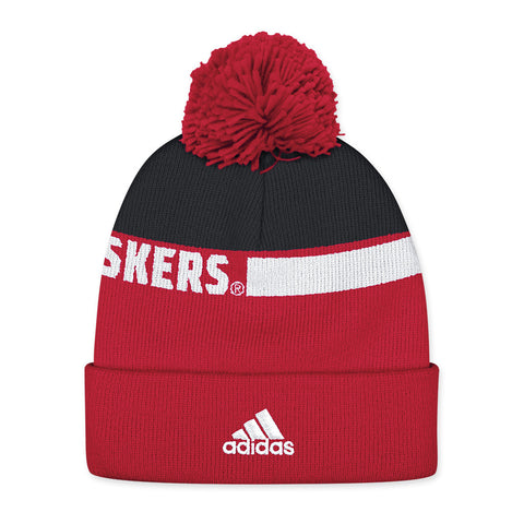 Nebraska Football Player Cuff Knit Hat by Adidas